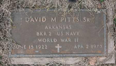 PITTS (VETERAN WWII), DAVID MICHAEL SR - Benton County, Arkansas | DAVID MICHAEL SR PITTS (VETERAN WWII) - Arkansas Gravestone Photos