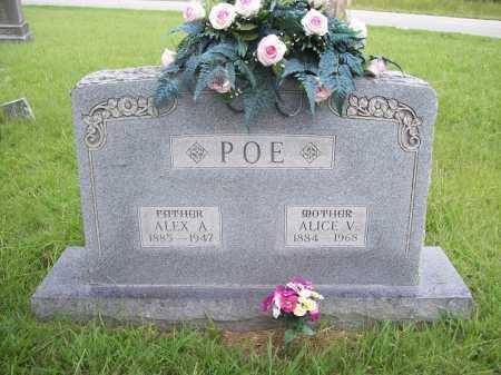 POE, ALICE V. - Benton County, Arkansas | ALICE V. POE - Arkansas Gravestone Photos