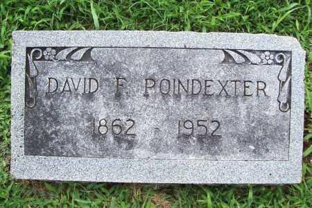 POINDEXTER, DAVID F. - Benton County, Arkansas   DAVID F. POINDEXTER - Arkansas Gravestone Photos