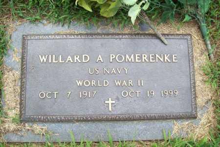 POMERENKE (VETERAN WWII), WILLARD A. - Benton County, Arkansas | WILLARD A. POMERENKE (VETERAN WWII) - Arkansas Gravestone Photos