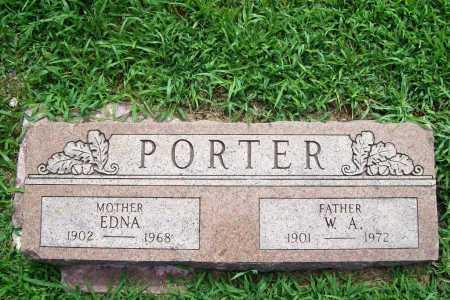 PORTER, EDNA - Benton County, Arkansas   EDNA PORTER - Arkansas Gravestone Photos
