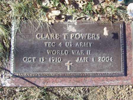 POWERS (VETERAN WWII), CLARE T - Benton County, Arkansas | CLARE T POWERS (VETERAN WWII) - Arkansas Gravestone Photos