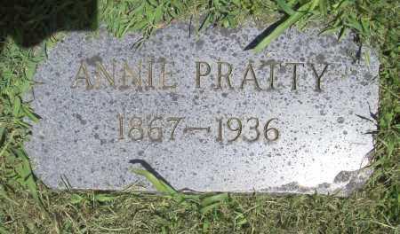 PRATTY, ANNIE - Benton County, Arkansas | ANNIE PRATTY - Arkansas Gravestone Photos