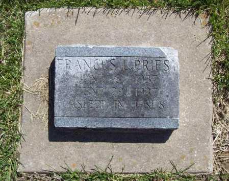 PRIEST, FRANCES L. - Benton County, Arkansas   FRANCES L. PRIEST - Arkansas Gravestone Photos