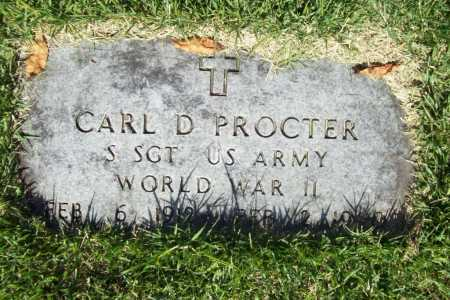 PROCTER (VETERAN WWII), CARL D. - Benton County, Arkansas | CARL D. PROCTER (VETERAN WWII) - Arkansas Gravestone Photos