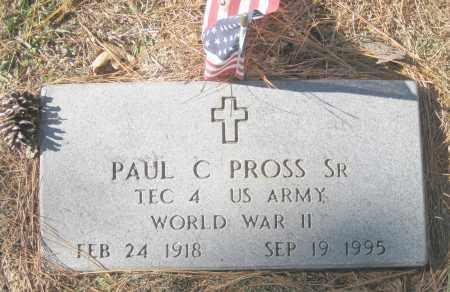 PROSS, SR. (VETERAN WWII), PAUL C. - Benton County, Arkansas | PAUL C. PROSS, SR. (VETERAN WWII) - Arkansas Gravestone Photos