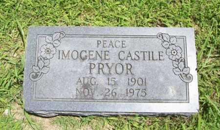 CASTILE PRYOR, INEZ IMOGENE - Benton County, Arkansas | INEZ IMOGENE CASTILE PRYOR - Arkansas Gravestone Photos