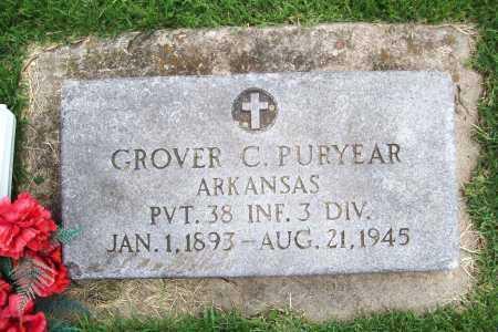 PURYEAR (VETERAN), GROVER C. - Benton County, Arkansas | GROVER C. PURYEAR (VETERAN) - Arkansas Gravestone Photos