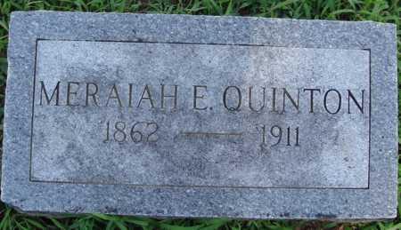 QUINTON, MERAIAH E. - Benton County, Arkansas | MERAIAH E. QUINTON - Arkansas Gravestone Photos