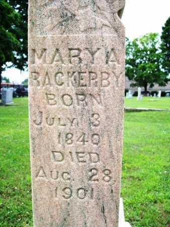 RACKERBY, MARY A. - Benton County, Arkansas | MARY A. RACKERBY - Arkansas Gravestone Photos