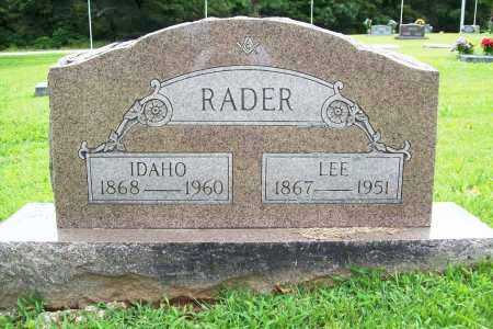 RADER, IDAHO - Benton County, Arkansas | IDAHO RADER - Arkansas Gravestone Photos