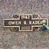 RADER, OWEN R. - Benton County, Arkansas | OWEN R. RADER - Arkansas Gravestone Photos