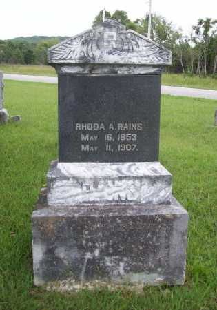 RAINS, RHODA A. - Benton County, Arkansas   RHODA A. RAINS - Arkansas Gravestone Photos