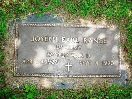 RANGE (VETERAN WWII), JOSEPH EARL - Benton County, Arkansas | JOSEPH EARL RANGE (VETERAN WWII) - Arkansas Gravestone Photos
