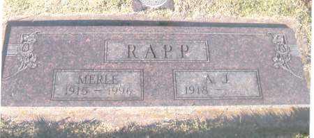 FINCH RAPP, MERLE - Benton County, Arkansas | MERLE FINCH RAPP - Arkansas Gravestone Photos