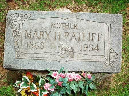 RATLIFF, MARY H. - Benton County, Arkansas | MARY H. RATLIFF - Arkansas Gravestone Photos