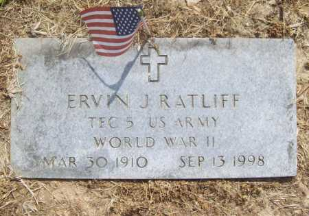RATLIFF (VETERAN WWII), ERVIN J - Benton County, Arkansas | ERVIN J RATLIFF (VETERAN WWII) - Arkansas Gravestone Photos