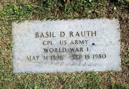 RAUTH (VETERAN WWI), BASIL D. - Benton County, Arkansas | BASIL D. RAUTH (VETERAN WWI) - Arkansas Gravestone Photos