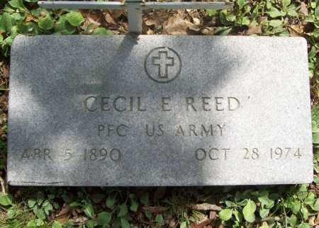REED (VETERAN WWI), CECIL EMERSON - Benton County, Arkansas | CECIL EMERSON REED (VETERAN WWI) - Arkansas Gravestone Photos