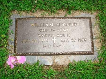 REIFF (VETERAN WWII), WILLIAM H. - Benton County, Arkansas | WILLIAM H. REIFF (VETERAN WWII) - Arkansas Gravestone Photos