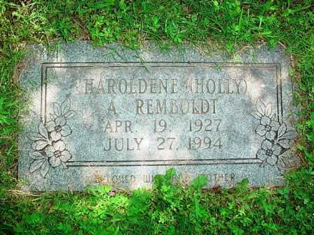 REMBOLDT, HAROLDENE (HOLLY) A. - Benton County, Arkansas | HAROLDENE (HOLLY) A. REMBOLDT - Arkansas Gravestone Photos