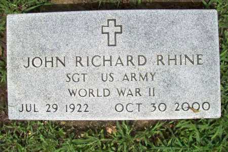 RHINE (VETERAN WWII), JOHN RICHARD - Benton County, Arkansas | JOHN RICHARD RHINE (VETERAN WWII) - Arkansas Gravestone Photos