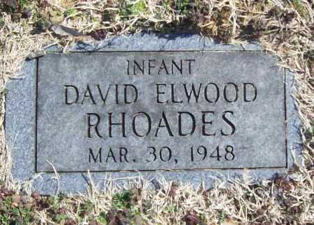 RHOADES, DAVID ELWOOD - Benton County, Arkansas | DAVID ELWOOD RHOADES - Arkansas Gravestone Photos