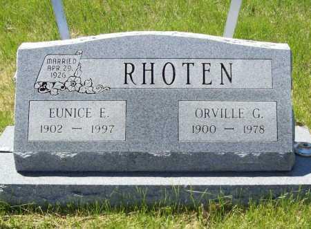 RHOTEN, EUNICE E - Benton County, Arkansas | EUNICE E RHOTEN - Arkansas Gravestone Photos