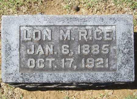 RICE, LON M. - Benton County, Arkansas | LON M. RICE - Arkansas Gravestone Photos