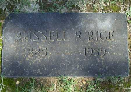 RICE, RUSSELL R. - Benton County, Arkansas | RUSSELL R. RICE - Arkansas Gravestone Photos