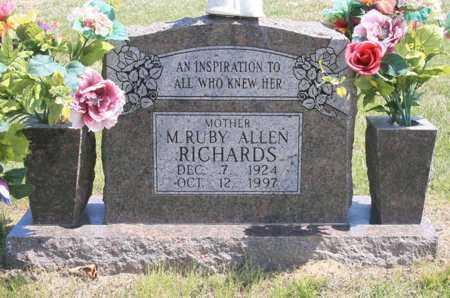 RICHARDS, M. RUBY - Benton County, Arkansas | M. RUBY RICHARDS - Arkansas Gravestone Photos