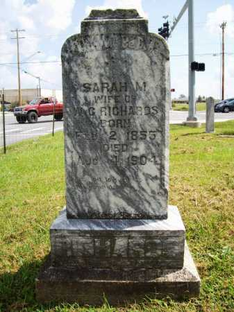 RICHARDS, SARAH MELISSA - Benton County, Arkansas | SARAH MELISSA RICHARDS - Arkansas Gravestone Photos