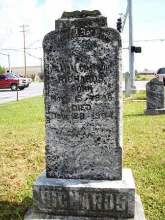 RICHARDS, WILLIAM GLAYBORN - Benton County, Arkansas   WILLIAM GLAYBORN RICHARDS - Arkansas Gravestone Photos