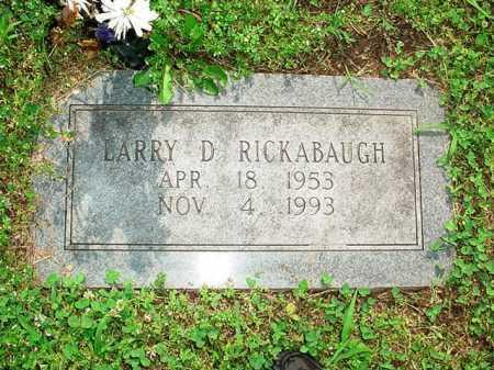 RICKABAUGH, LARRY D - Benton County, Arkansas | LARRY D RICKABAUGH - Arkansas Gravestone Photos