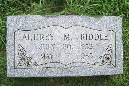 RIDDLE, AUDREY MARIE - Benton County, Arkansas | AUDREY MARIE RIDDLE - Arkansas Gravestone Photos