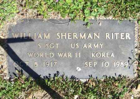 RITER (VETERAN 2 WARS), WILLIAM SHERMAN - Benton County, Arkansas | WILLIAM SHERMAN RITER (VETERAN 2 WARS) - Arkansas Gravestone Photos