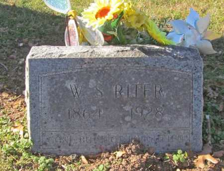 RITER, W S - Benton County, Arkansas | W S RITER - Arkansas Gravestone Photos