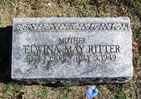 RITTER, ELWINA MAY - Benton County, Arkansas | ELWINA MAY RITTER - Arkansas Gravestone Photos
