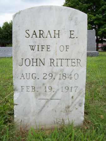 RITTER, SARAH E. - Benton County, Arkansas | SARAH E. RITTER - Arkansas Gravestone Photos