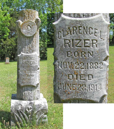 RIZER, CLARENCE L - Benton County, Arkansas   CLARENCE L RIZER - Arkansas Gravestone Photos