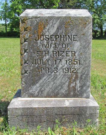 RIZER, JOSEPHINE - Benton County, Arkansas | JOSEPHINE RIZER - Arkansas Gravestone Photos