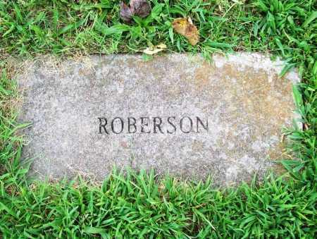ROBERSON, UNKNOWN - Benton County, Arkansas | UNKNOWN ROBERSON - Arkansas Gravestone Photos
