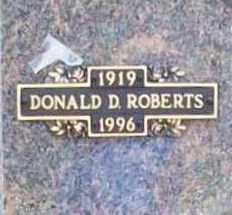 ROBERTS, DONALD D. - Benton County, Arkansas | DONALD D. ROBERTS - Arkansas Gravestone Photos