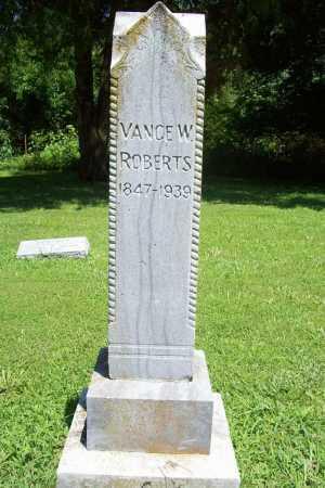 ROBERTS, VANCE W - Benton County, Arkansas | VANCE W ROBERTS - Arkansas Gravestone Photos