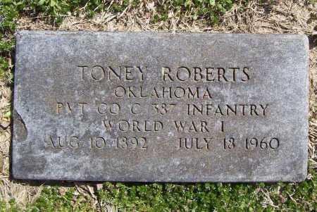 ROBERTS (VETERAN WWI), TONEY W - Benton County, Arkansas | TONEY W ROBERTS (VETERAN WWI) - Arkansas Gravestone Photos
