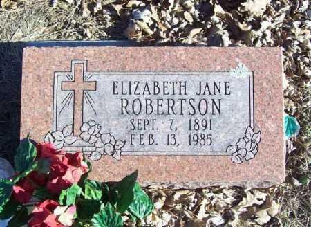 ROBERTSON, ELIZABETH JANE - Benton County, Arkansas | ELIZABETH JANE ROBERTSON - Arkansas Gravestone Photos