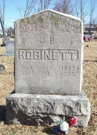 ROBINETT, J. P. - Benton County, Arkansas   J. P. ROBINETT - Arkansas Gravestone Photos