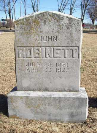 ROBINETT, JOHN - Benton County, Arkansas | JOHN ROBINETT - Arkansas Gravestone Photos