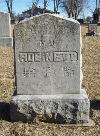 ROBINETT, M. J. - Benton County, Arkansas   M. J. ROBINETT - Arkansas Gravestone Photos