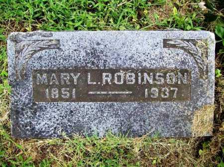 ROBINSON, MARY L. - Benton County, Arkansas | MARY L. ROBINSON - Arkansas Gravestone Photos